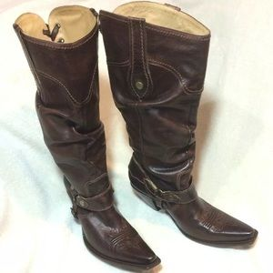 Charlie 1 Horse Lucchese leather cowgirl boots 9